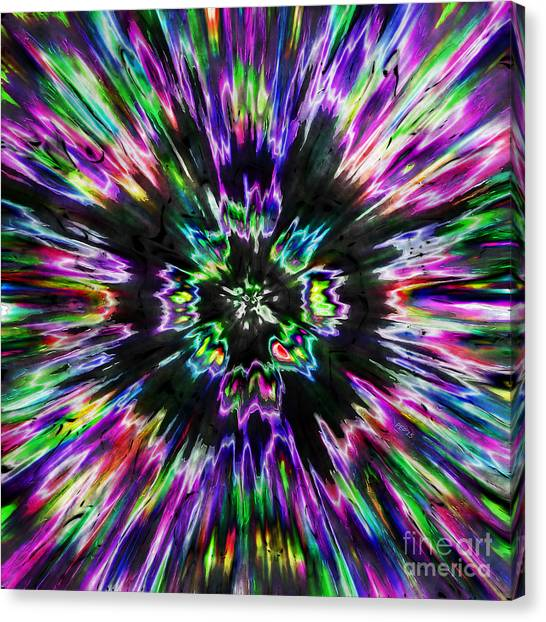 Colorful Tie Dye Abstract Canvas Print