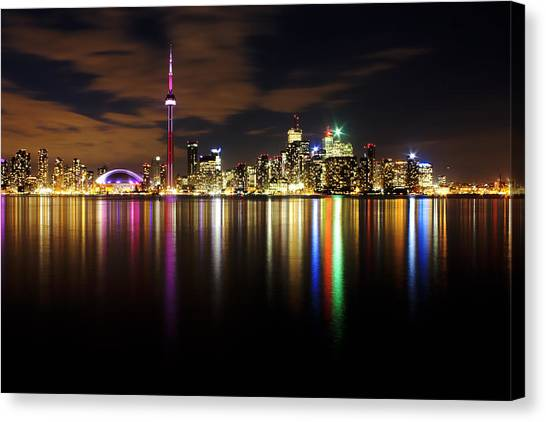 Colorful Toronto Canvas Print by Matt  Trimble