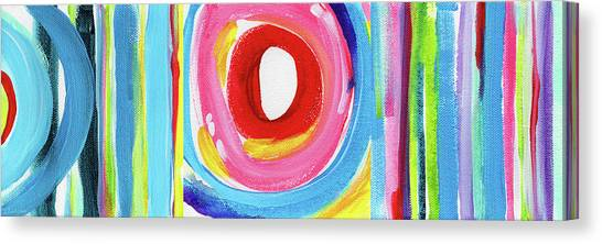 Lines Canvas Print - Colorful Uprising 6- Art By Linda Woods by Linda Woods