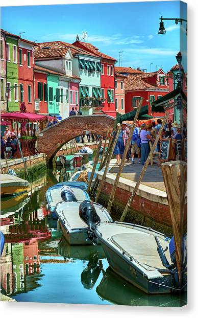 Colorful View In Burano Canvas Print