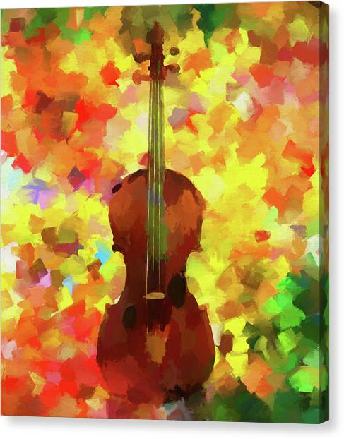 Music Genres Canvas Print - Colorful Violin by Dan Sproul