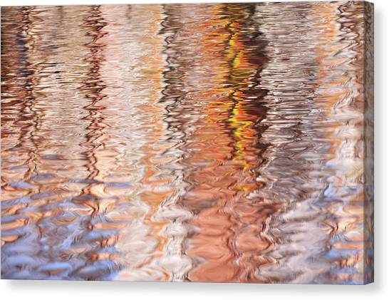 Jenny Lake Canvas Print - Colorful Water Reflections Abstract by Jenny Rainbow