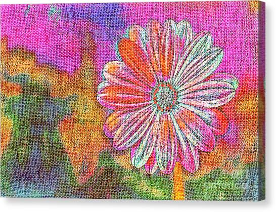 Canvas Print featuring the painting Colorful Watercolor Flower by Lita Kelley