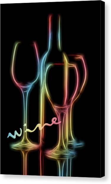 Fineart Canvas Print - Colorful Wine by Tom Mc Nemar