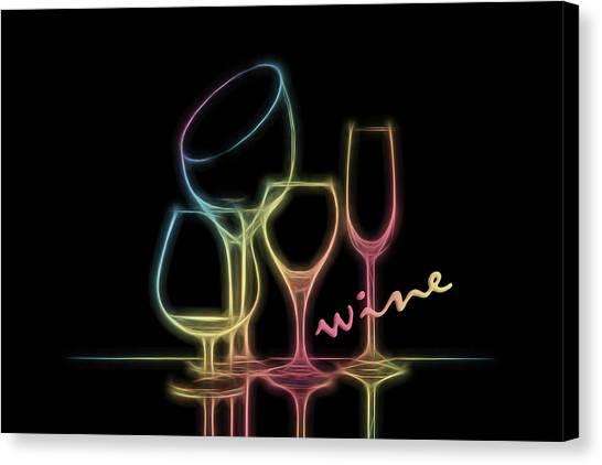 Flutes Canvas Print - Colorful Wineglasses by Tom Mc Nemar