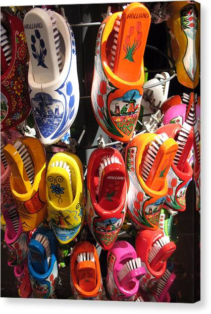 Colorful Wooden Clogs In Amsterdam By Trude Janssen
