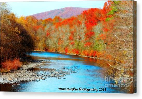 Coloring The Kittatinny Canvas Print