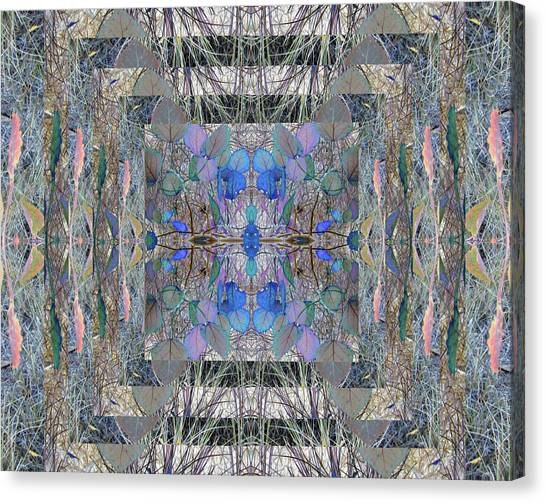 Colorized Aspen Kaleidoscope Canvas Print