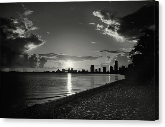 Colorless Sunset Canvas Print