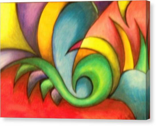Colors And Curves II Canvas Print by Karina Repp
