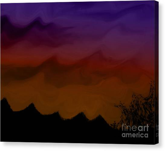 Colors At Dusk Canvas Print