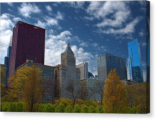 Colors In The City Canvas Print