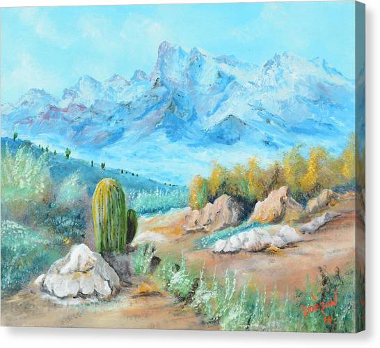 Colors In The High Desert Canvas Print