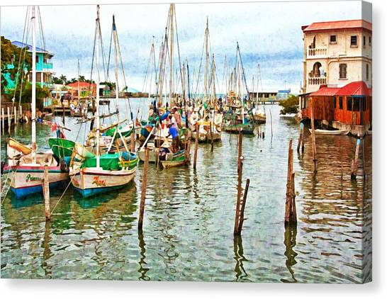 Colors Of Belize - Digital Paint Canvas Print