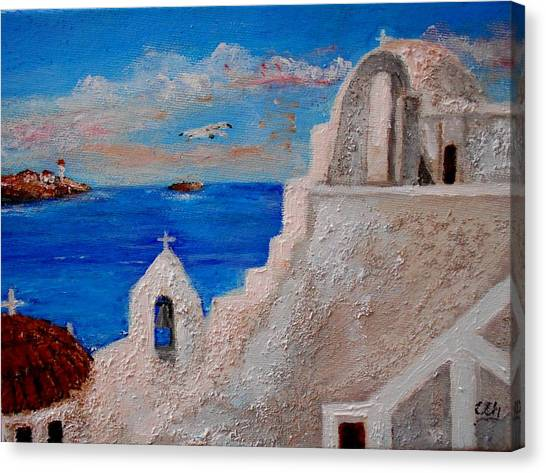 Colors Of Greece Canvas Print