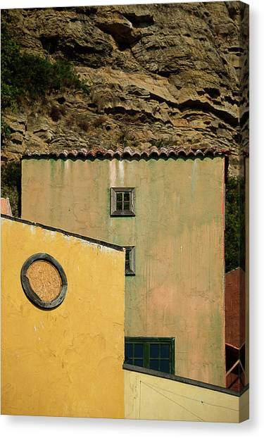 Canvas Print featuring the photograph Colors Of Liguria Houses - Facciate Case Colori Di Liguria 2 by Enrico Pelos