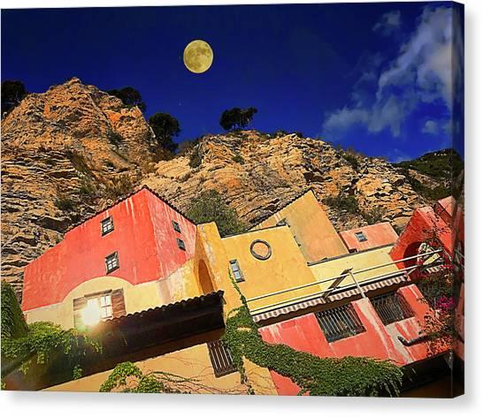 Canvas Print featuring the photograph Colors Of Liguria Houses - Facciate Case Colori Di Liguria 3 by Enrico Pelos