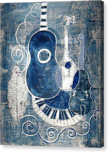 Colors Of Music 6 Canvas Print by Aliza Souleyeva-Alexander