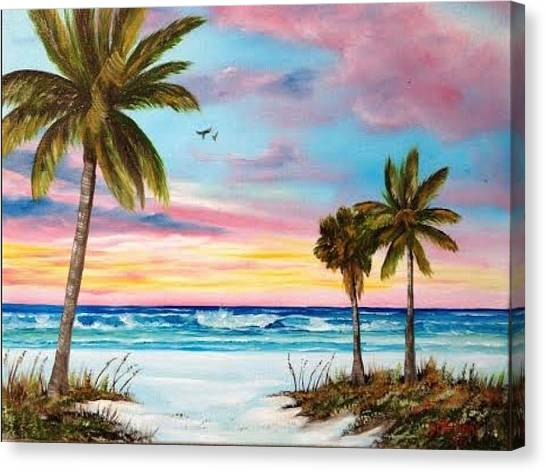 Colors Of Siesta Key Canvas Print