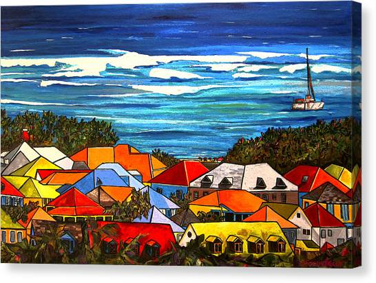 Colors Of St Martin Canvas Print