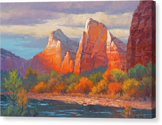 Red Rock Canvas Print - Colors Of The Court by Cody DeLong