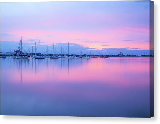 Colors Of The Harbor Canvas Print