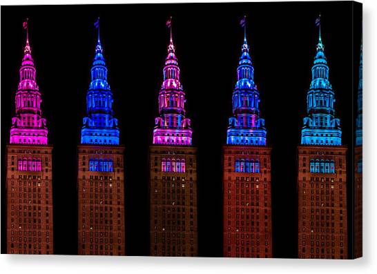 Colors Of The Terminal Tower Canvas Print