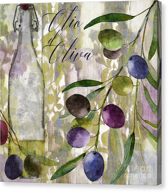 Olive Oil Canvas Print - Colors Of Tuscany by Mindy Sommers