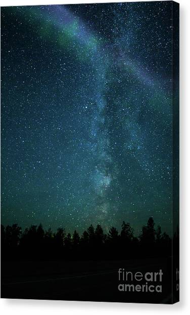 Colors Over The Milky Way Canvas Print