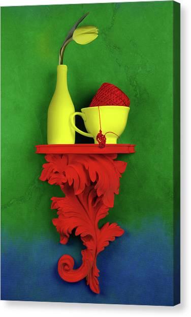 Red Tulip Canvas Print - Colors by Tom Mc Nemar