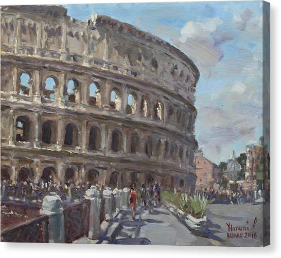Rome Canvas Print - Colosseo Rome by Ylli Haruni