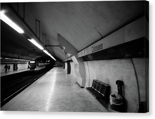 Colosseo Station Canvas Print