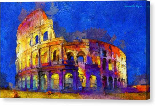 Orthodox Canvas Print - Colosseum 2 - Da by Leonardo Digenio
