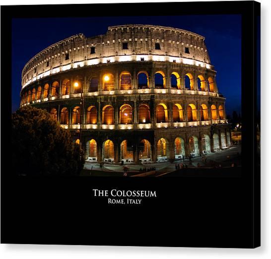 Colosseum At Night Canvas Print by Alan Zeleznikar