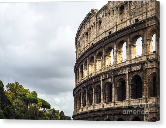 Colosseum Closeup Canvas Print