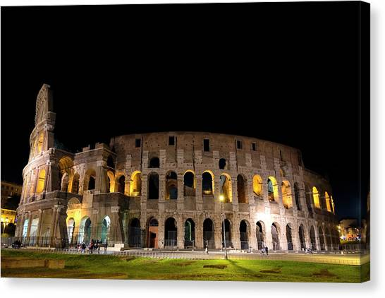Canvas Print featuring the photograph Colosseum by Nikos Stavrakas