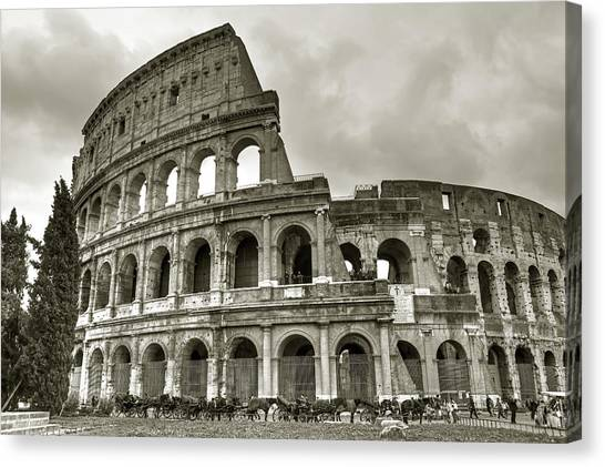 The Amphitheatre Canvas Print - Colosseum  Rome by Joana Kruse
