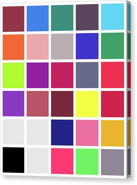 Colour Alphabet - 24 Canvas Print