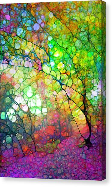 Colour Combustion Canvas Print