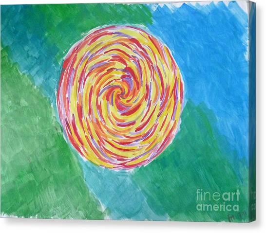 Colour Me Spiral Canvas Print