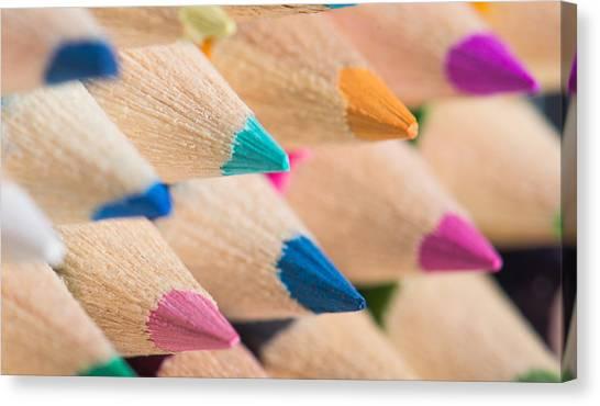Colour Pencils 3 Canvas Print