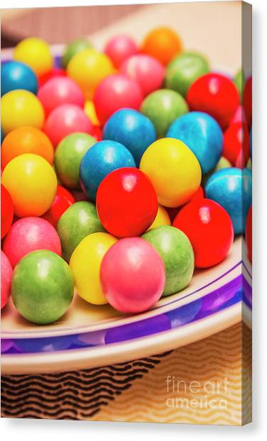 Confection Canvas Print - Colourful Bubblegum Candy Balls by Jorgo Photography - Wall Art Gallery