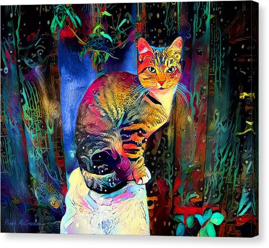 Colourful Calico Canvas Print