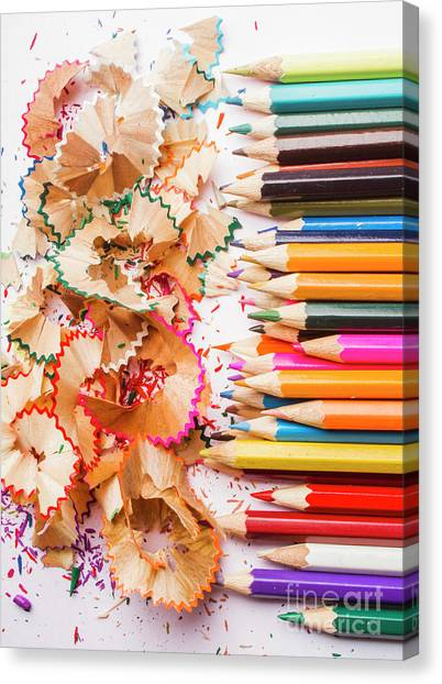 Pencils Canvas Print - Colourful Leftovers by Jorgo Photography - Wall Art Gallery