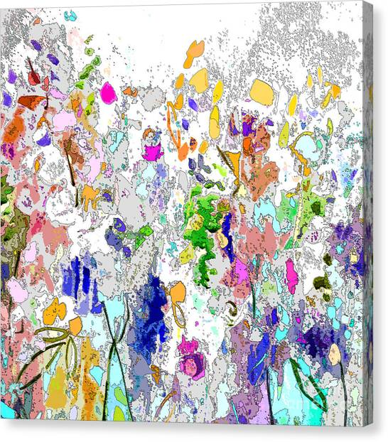 Colourful Meadow I Canvas Print
