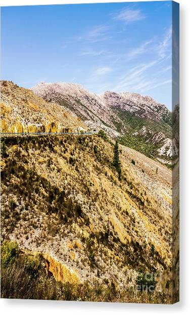 Mountain Ranges Canvas Print - Colourful Stony Highlands by Jorgo Photography - Wall Art Gallery