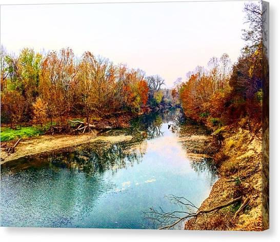 Colours Along Mill Creek Canvas Print