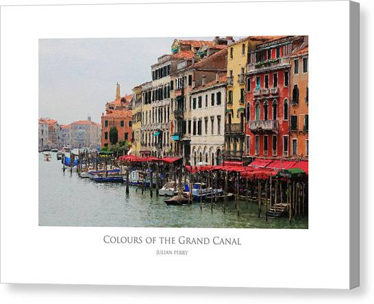 Colours Of The Grand Canal Canvas Print