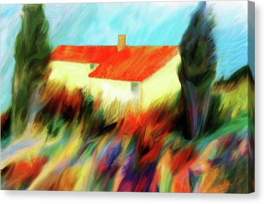 Canvas Print featuring the painting Colours Of The Wind by Valerie Anne Kelly