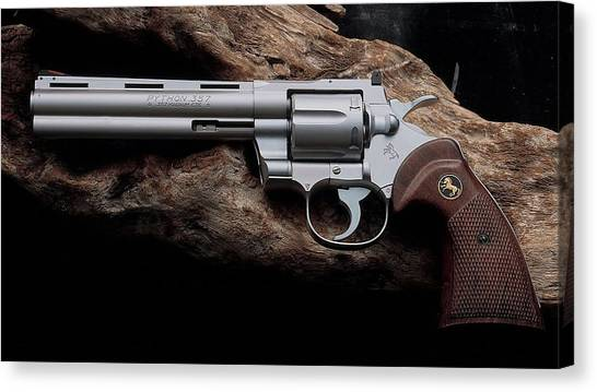 Pythons Canvas Print - Colt Python Revolver by Maye Loeser